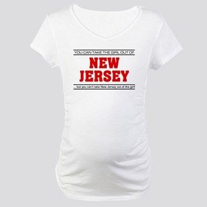 'Girl From New Jersey' Maternity T-Shirt