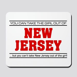 'Girl From New Jersey' Mousepad