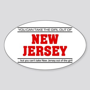 'Girl From New Jersey' Sticker (Oval)
