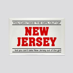 'Girl From New Jersey' Rectangle Magnet