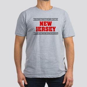 'Girl From New Jersey' Men's Fitted T-Shirt (dark)