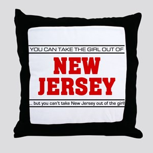 'Girl From New Jersey' Throw Pillow