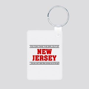 'Girl From New Jersey' Aluminum Photo Keychain