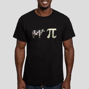 Cow Pie Pi Men's Fitted T-Shirt (dark)