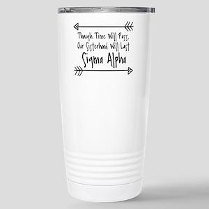 Sigma Alpha Siste 16 oz Stainless Steel Travel Mug