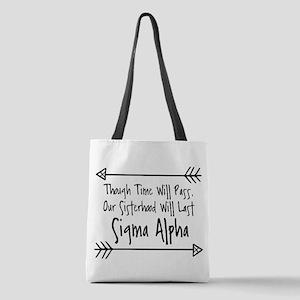 Sigma Alpha Sisterhood Polyester Tote Bag