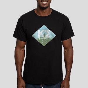 Kappa Sigma Trees Men's Fitted T-Shirt (dark)