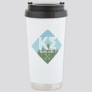 Kappa Sigma Trees 16 oz Stainless Steel Travel Mug