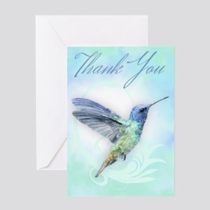 Thank You, Hummingbird Greeting Cards