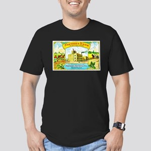Wisconsin Beer Label 3 Men's Fitted T-Shirt (dark)