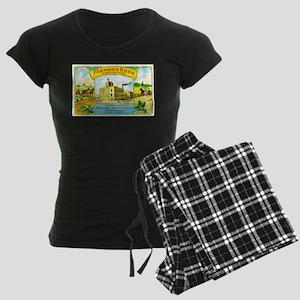 Wisconsin Beer Label 3 Women's Dark Pajamas