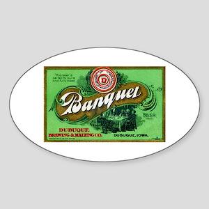 Iowa Beer Label 3 Sticker (Oval)
