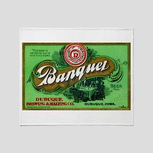 Iowa Beer Label 3 Throw Blanket