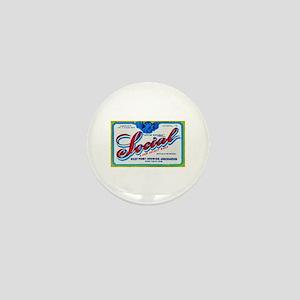 Nebraska Beer Label 3 Mini Button