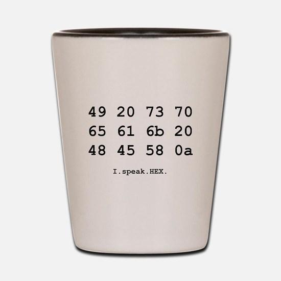 I Speak Hex Shot Glass