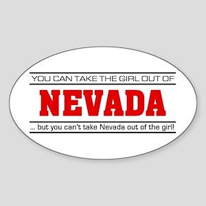 'Girl From Nevada' Sticker (Oval)