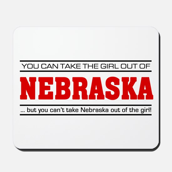 'Girl From Nebraska' Mousepad