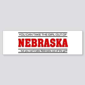 'Girl From Nebraska' Sticker (Bumper)