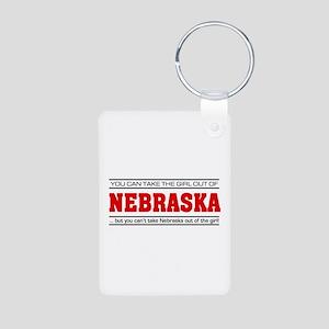 'Girl From Nebraska' Aluminum Photo Keychain