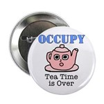 """Occupy Wall Street Tea Time i 2.25"""" Button (1"""