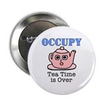 """Occupy Wall Street Tea Time i 2.25"""" Button"""