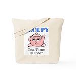 Occupy Wall Street Tea Time i Tote Bag