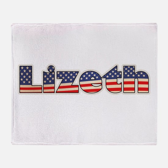 American Lizeth Throw Blanket
