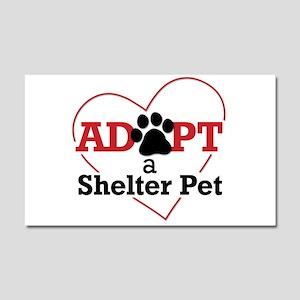 Adopt a Shelter Pet Car Magnet 20 x 12