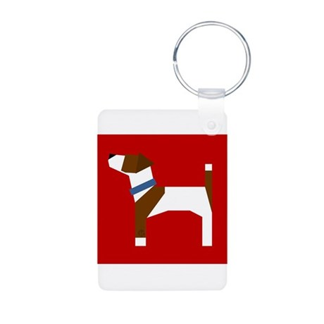 Jack Russell Terrier Aluminum Photo Keychain
