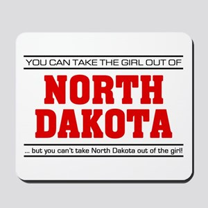 'Girl From North Dakota' Mousepad