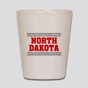 'Girl From North Dakota' Shot Glass