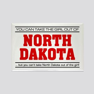 'Girl From North Dakota' Rectangle Magnet