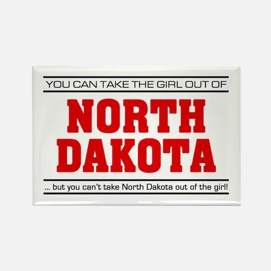 'Girl From North Dakota' Rectangle Magnet