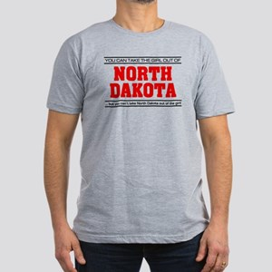 'Girl From North Dakota' Men's Fitted T-Shirt (dar