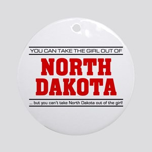 'Girl From North Dakota' Ornament (Round)