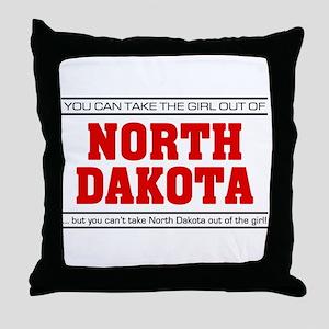 'Girl From North Dakota' Throw Pillow