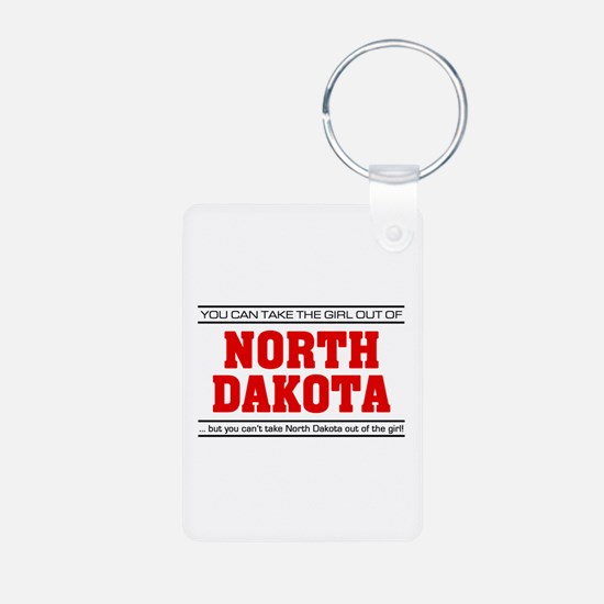 'Girl From North Dakota' Keychains