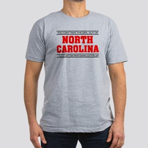 'Girl From North Carolina' Men's Fitted T-Shirt (d