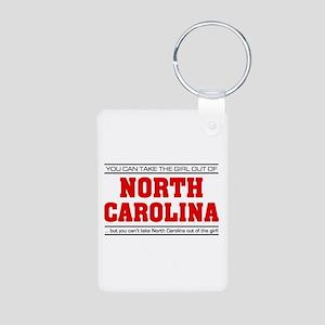 'Girl From North Carolina' Aluminum Photo Keychain
