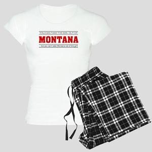 'Girl From Montana' Women's Light Pajamas