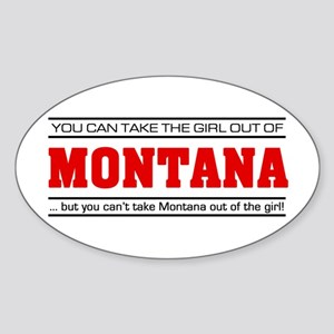 'Girl From Montana' Sticker (Oval)