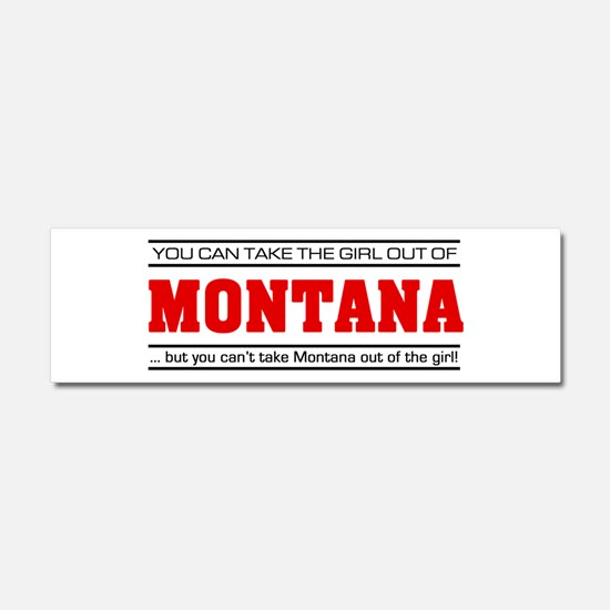 'Girl From Montana' Car Magnet 10 x 3