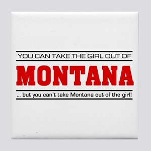 'Girl From Montana' Tile Coaster