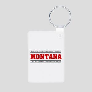 'Girl From Montana' Aluminum Photo Keychain
