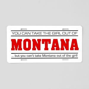 'Girl From Montana' Aluminum License Plate