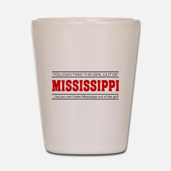 'Girl From Mississippi' Shot Glass
