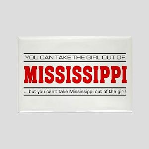 'Girl From Mississippi' Rectangle Magnet