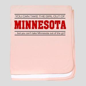 'Girl From Minnesota' baby blanket