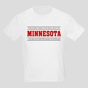 'Girl From Minnesota' Kids Light T-Shirt