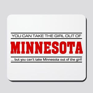 'Girl From Minnesota' Mousepad